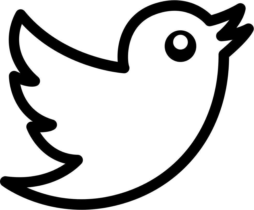 Twitter Bird Logo Outline Svg Png Icon Free Download