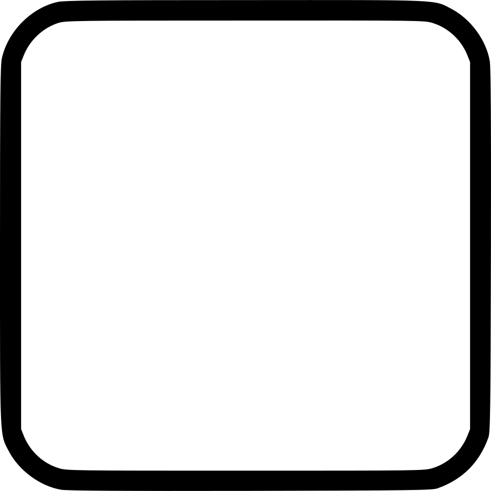 Square With Round Corner Svg Png Icon Free Download