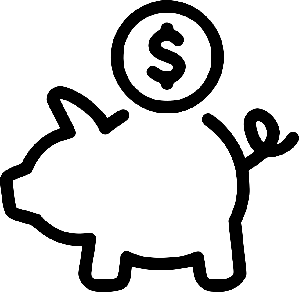 Cash Money Coins Piggy Bank Savings Svg Png Icon Free
