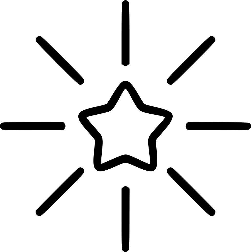 Shining Star Svg Png Icon Free Download (#468809
