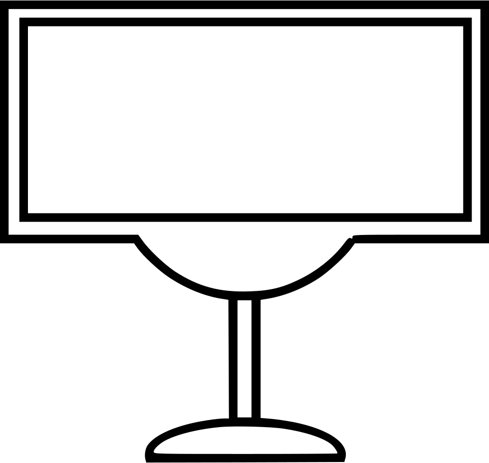 Plazma Tv Screen Stand Svg Png Icon Free Download (#474852