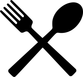 fork eating clipart icons spoon icon eat transparent background restaurant lunch silhouette svg food meal computer file onlinewebfonts