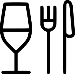 food restaurant icon drink fork knife glass dinner eating icons transparent cooking svg file comments thin onlinewebfonts iconfinder pngkey