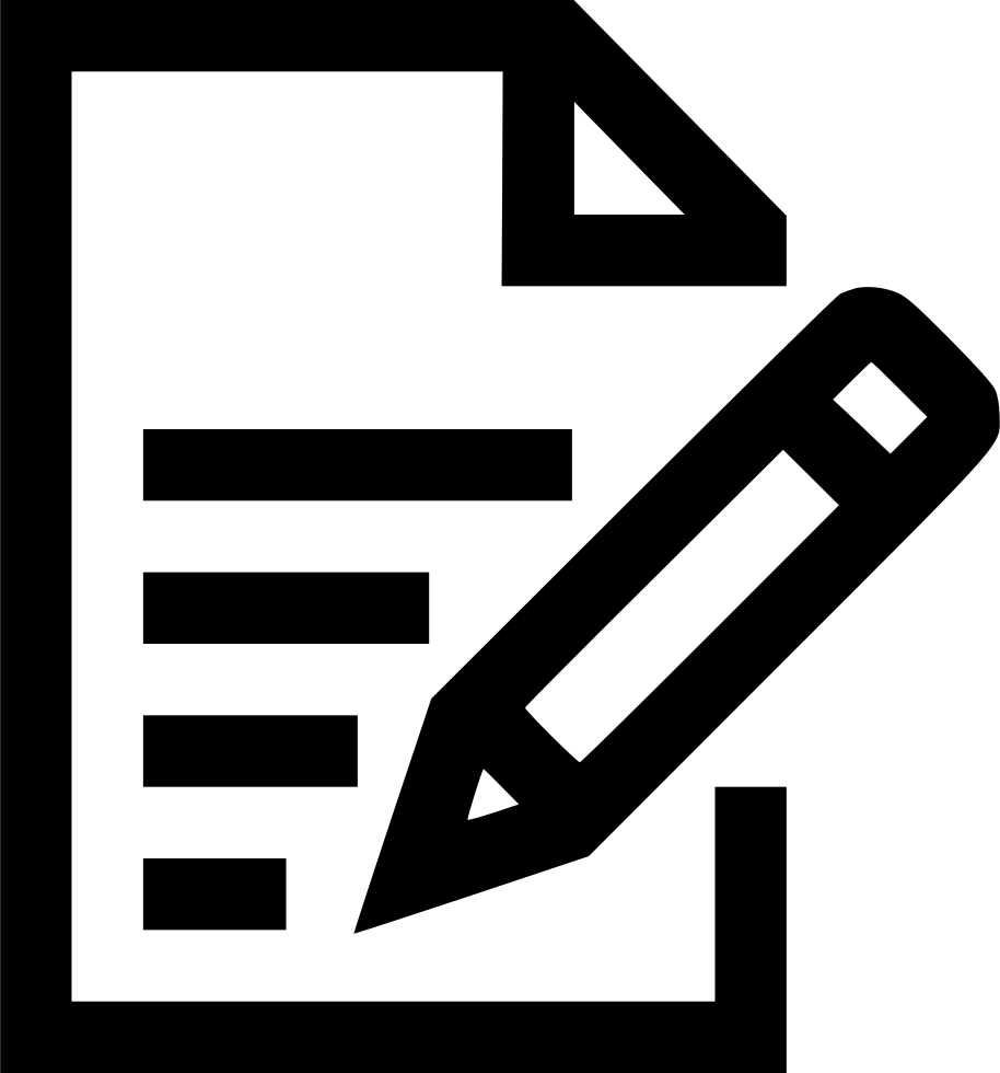 Note Pencile Memo Pen Notebook Book Write Svg Png Icon