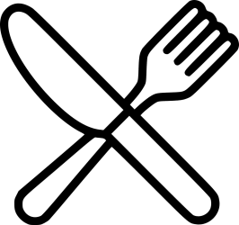 Fork Knife Food Restaurant Lunch Cutlery Svg Png Icon Free Download #493596 OnlineWebFonts COM
