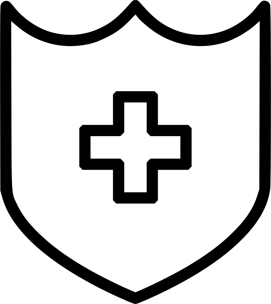 Medical Shield Protect Security Cross Svg Png Icon Free