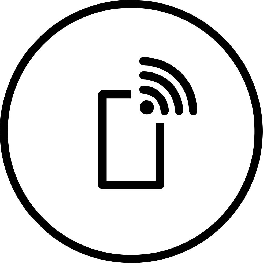 Mobile Wifi Wireless Internet Data Connection Hotspot Svg