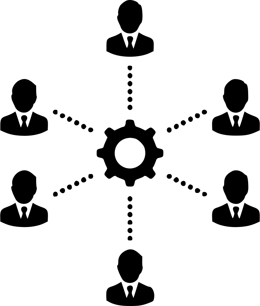 Group Gear Team Teamwork People Management Svg Png Icon