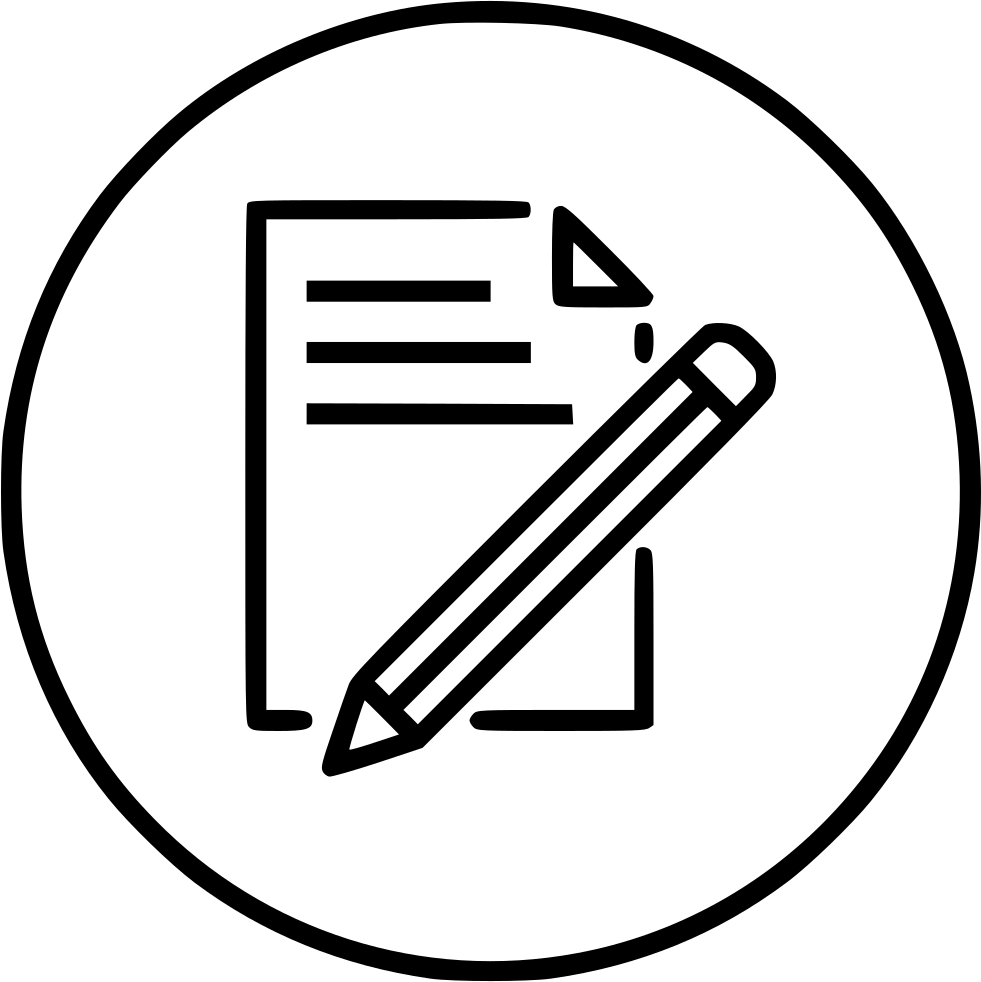 Document Paper Write Pencil Pen Drawing Svg Png Icon Free
