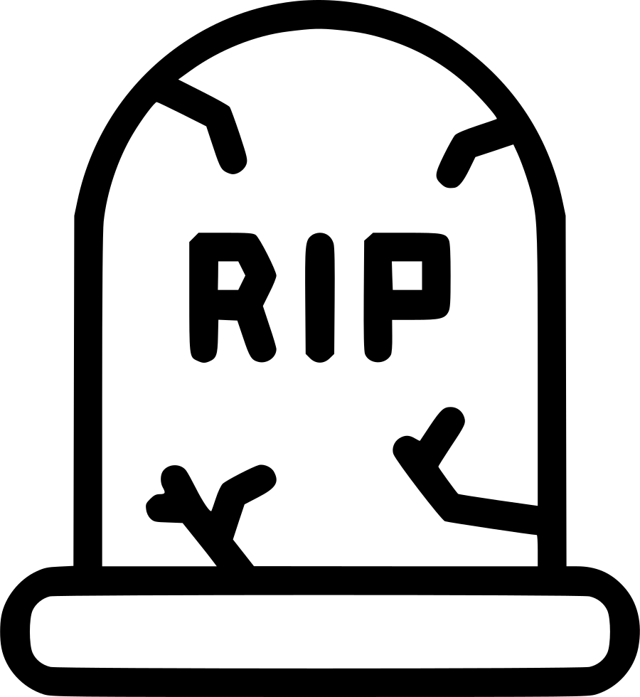 Death Funeral Grave Gravestone Graveyard Rip Svg Png Icon