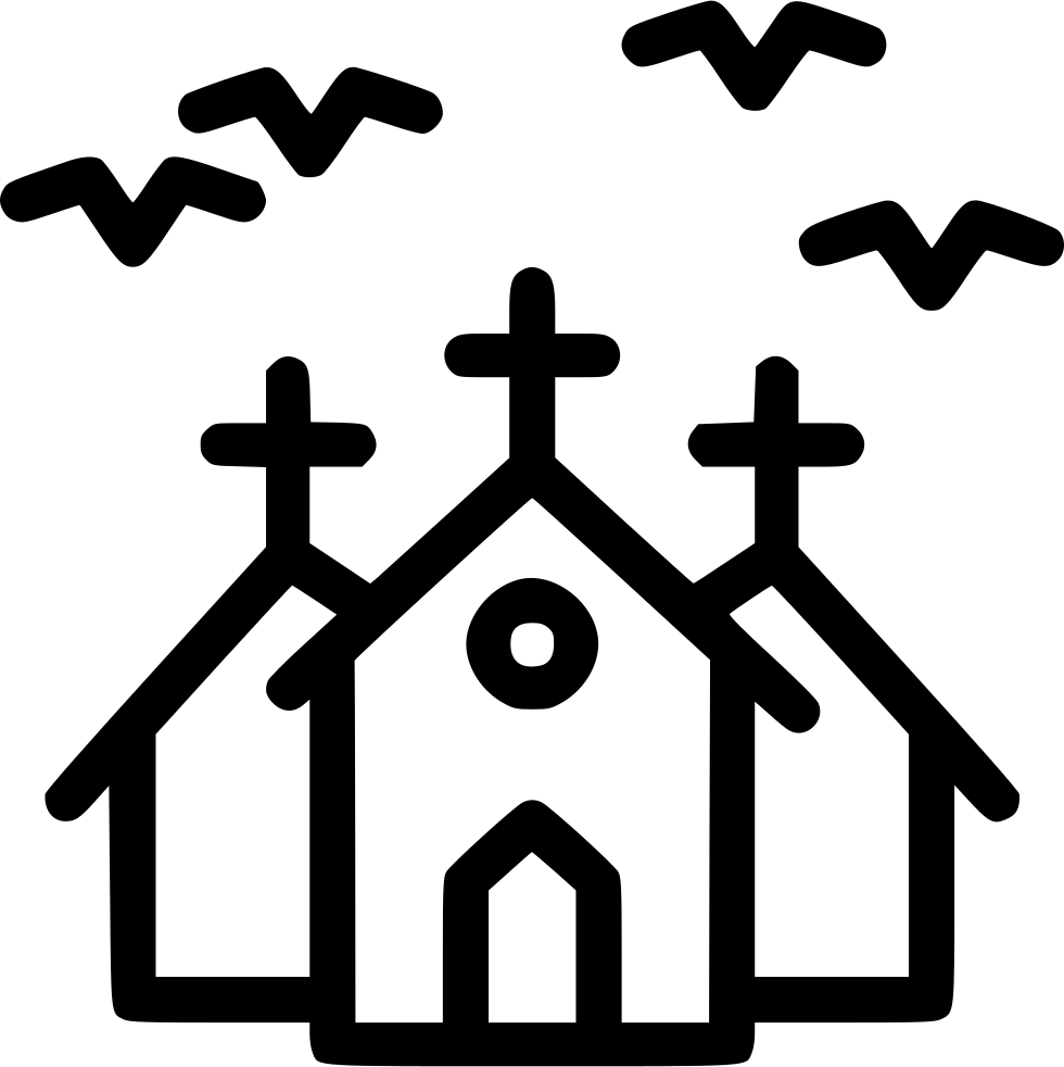 Haunted Mansion Horror House Bats Night Svg Png Icon Free