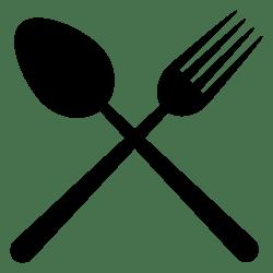 svg icon restaurant symbol cutlery cross onlinewebfonts