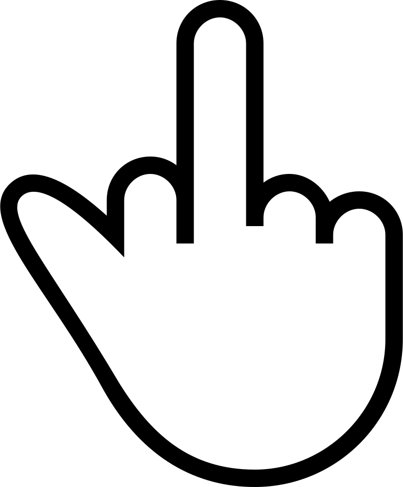 Download Middle Finger Signal Gesture Of Hand Stroke Symbol Svg Png ...