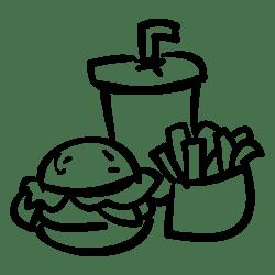 food fast icon svg burger drink fries file onlinewebfonts