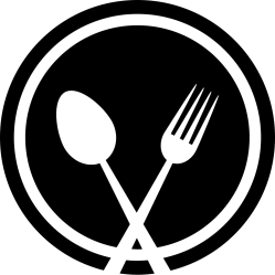 restaurant icon fork plate svg spoon icons symbol eating tools file onlinewebfonts data cliparts