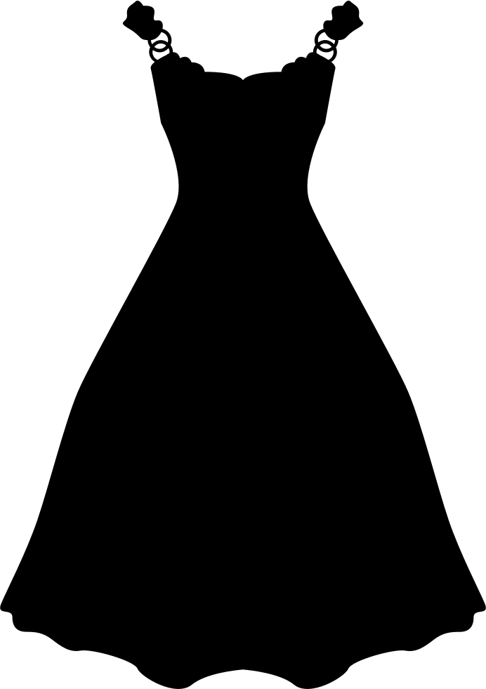 Cute Initial Wallpaper Dress Long And Black Shape Svg Png Icon Free Download