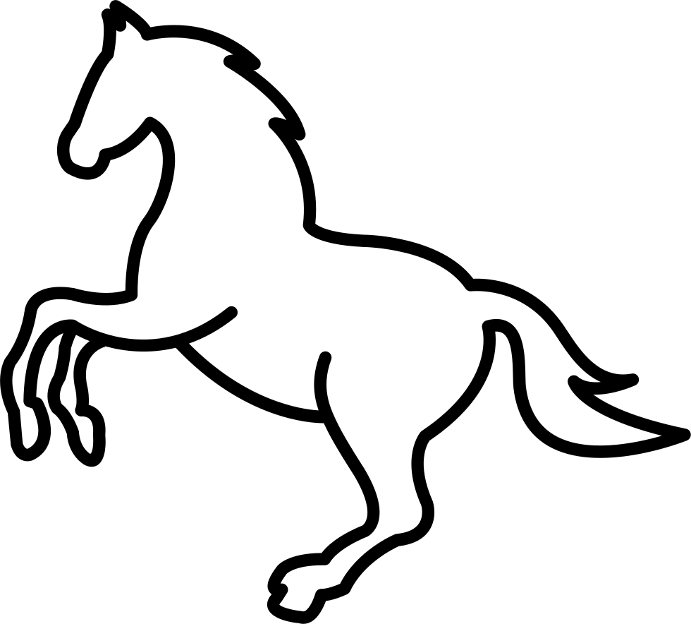 White Jumping Horse Outline Svg Png Icon Free Download