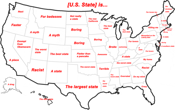 Hilarious Stereotypical Alabama Maps