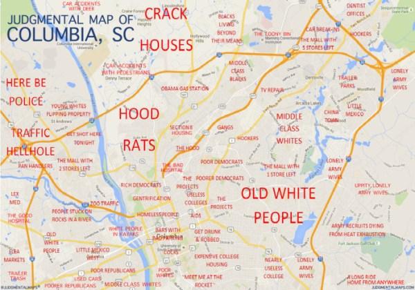 7 Funny South Carolina Maps
