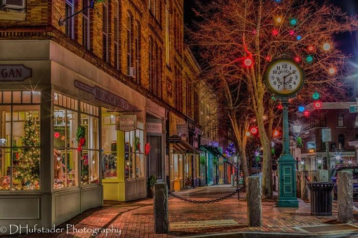 Christmas Main St Bangor Maine