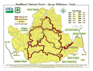 sipsey wilderness alabama map bankhead forest national hike