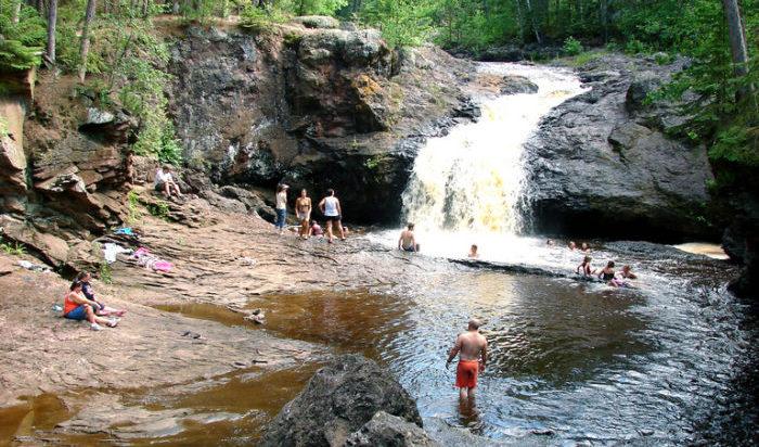 3 Wisconsin Waterfalls You Can Swim In