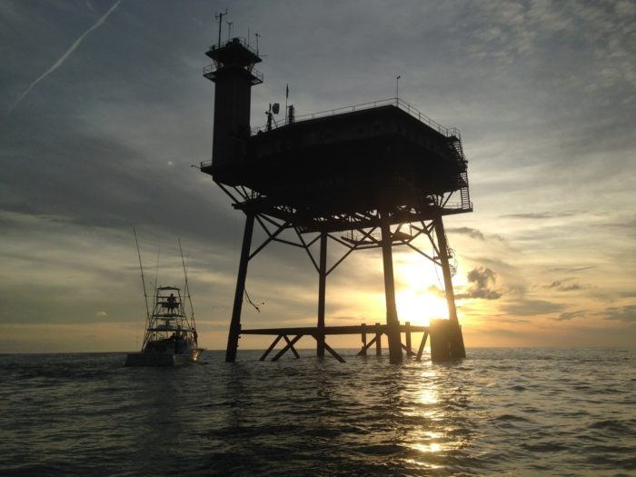 work station kitchen butcher block top island frying pan tower: the hotel in middle of ocean off ...