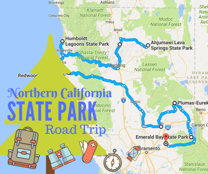 National Northern Map Parks California