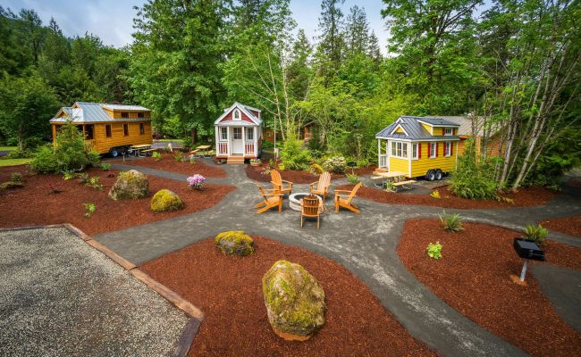 The Tiny House Village Hotel Hiding In The Mt Hood Forest