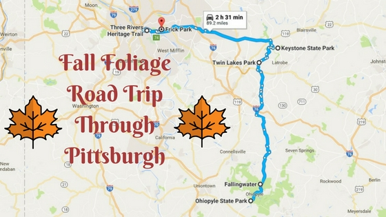 Take This Fall Foliage 2017 Road Trip In Pittsburgh To See