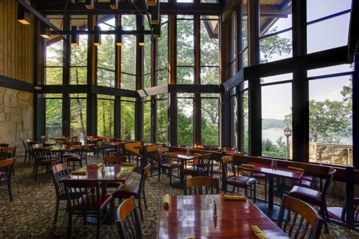 Bromfields Dining Room at the Mohican State Park Lodge in
