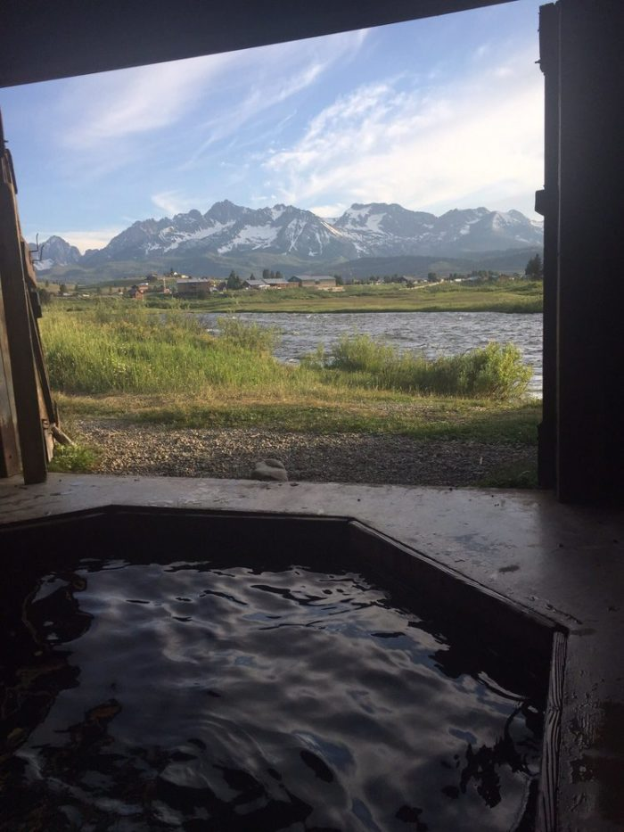 Mountain Village Resort Has A Private Hot Springs For The Best Soaking Experience in Idaho