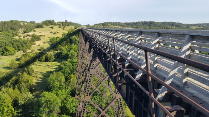 The Trestle Bridge On The Cowboy Trail Is The Most