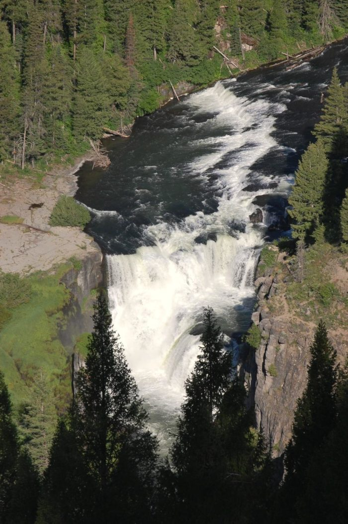 Hike To The Edge Of Lower Mesa Falls In Idaho On This