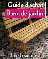 banc de jardin en bois resine et metal