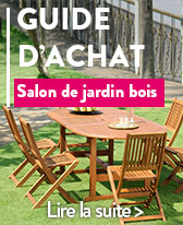 salon de jardin en bois table de