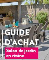 salon jardin en resine et pvc table