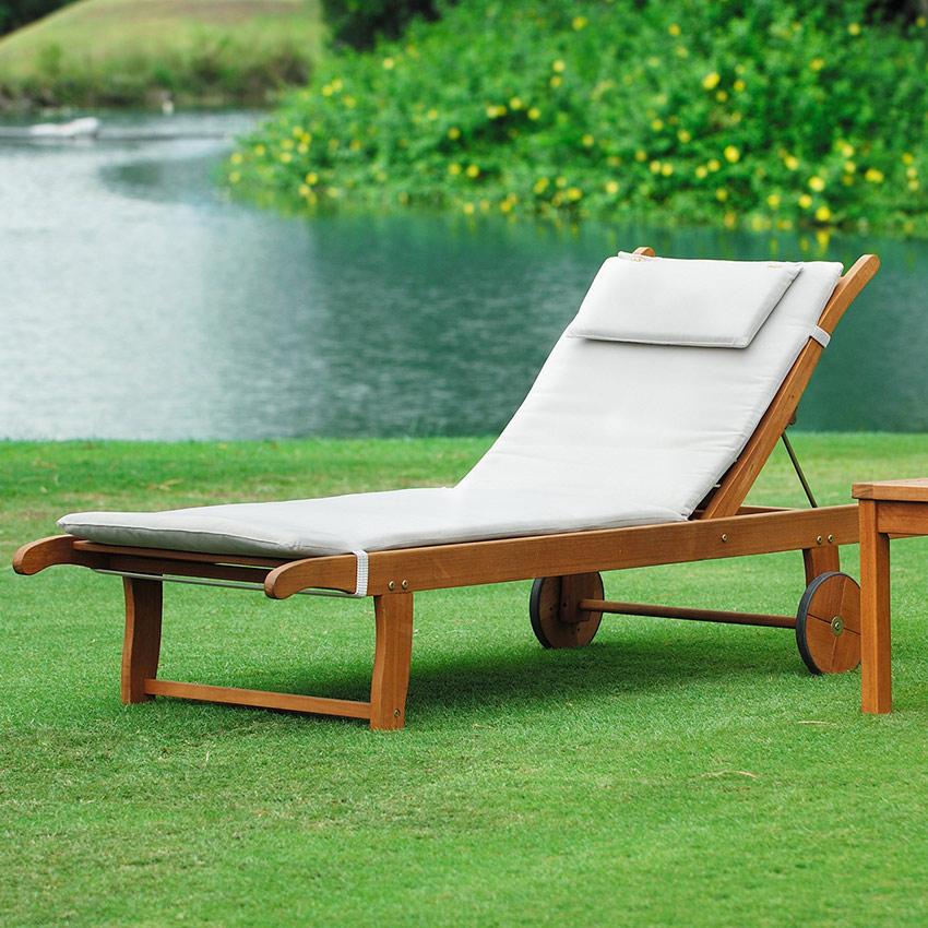 chaise longue kingsburry avec coussin