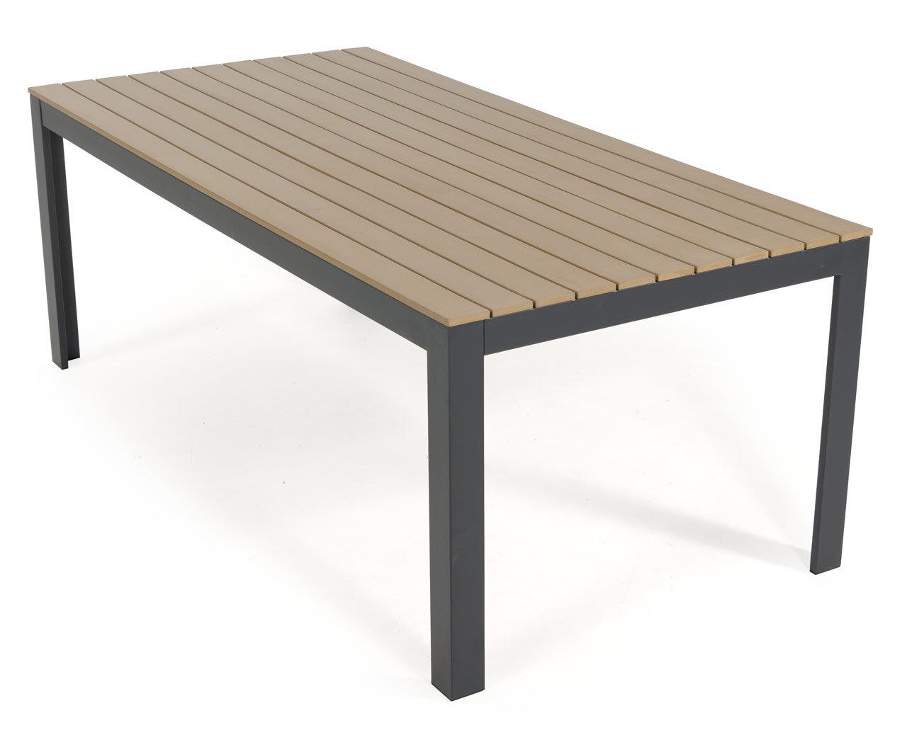 table de jardin bois composite 200 cm bilbao