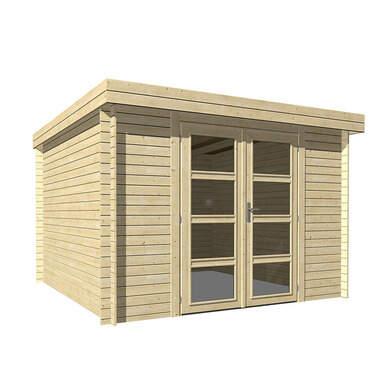 abri de jardin bois ep 19mm 9 m toit plat hanko