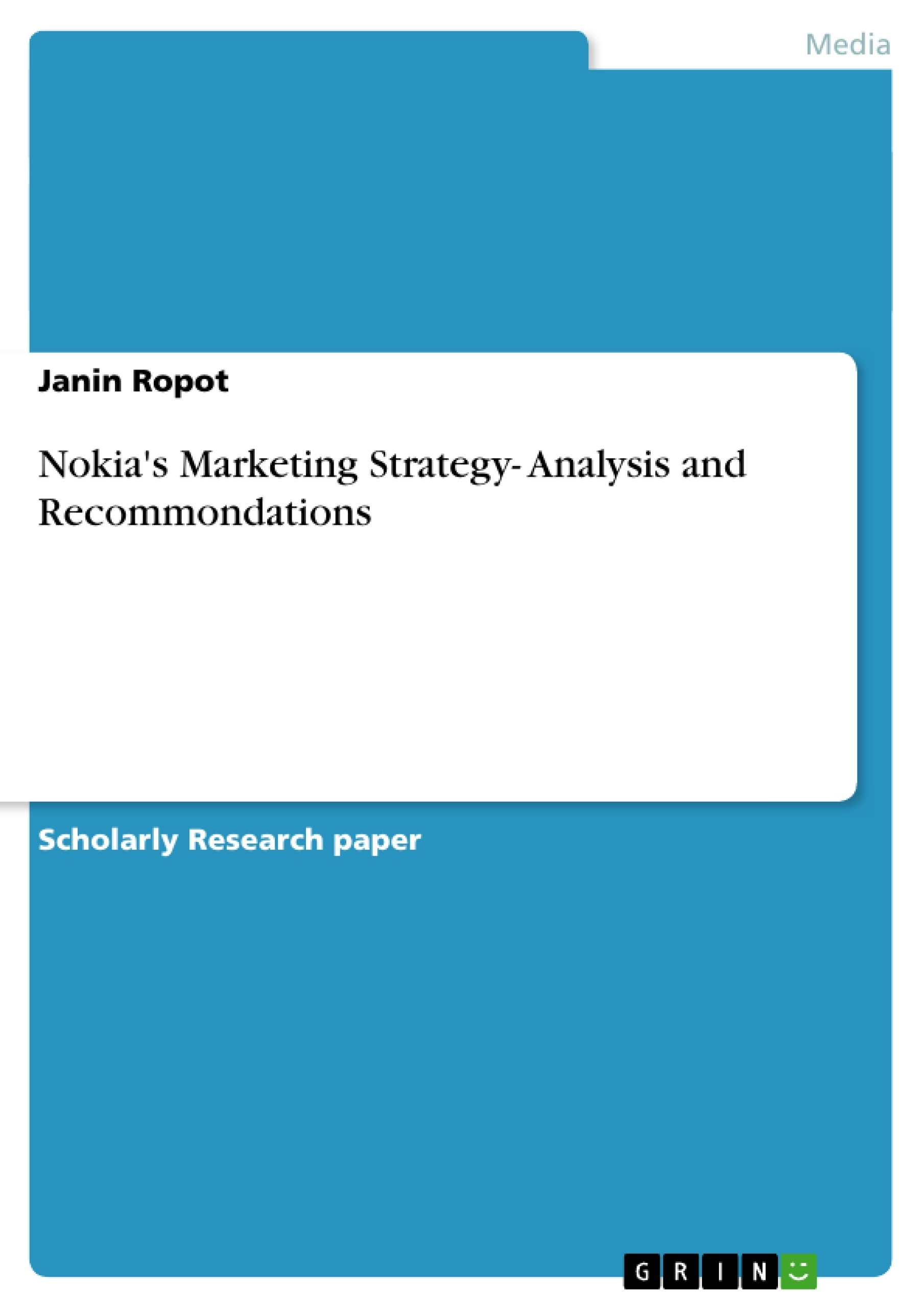 Research Paper On Marketing Strategy Marketing Projects