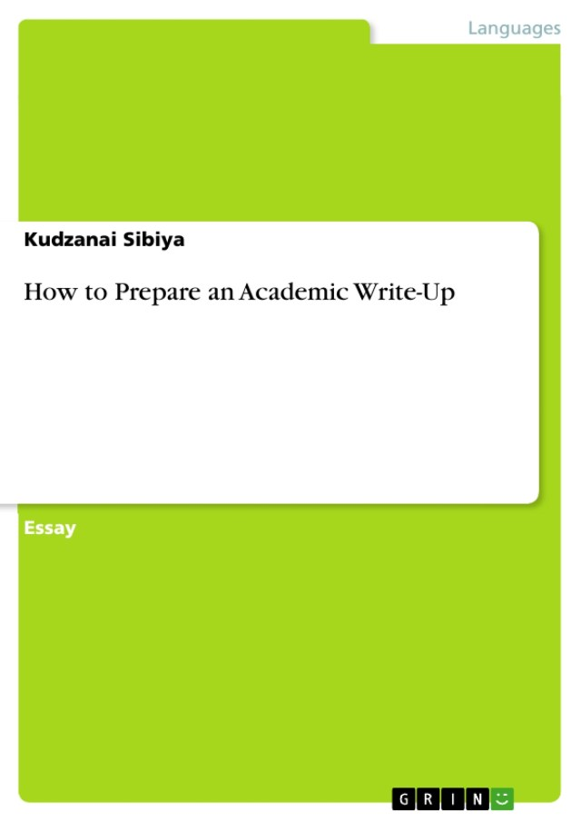 How to Prepare an Academic Write-Up - GRIN