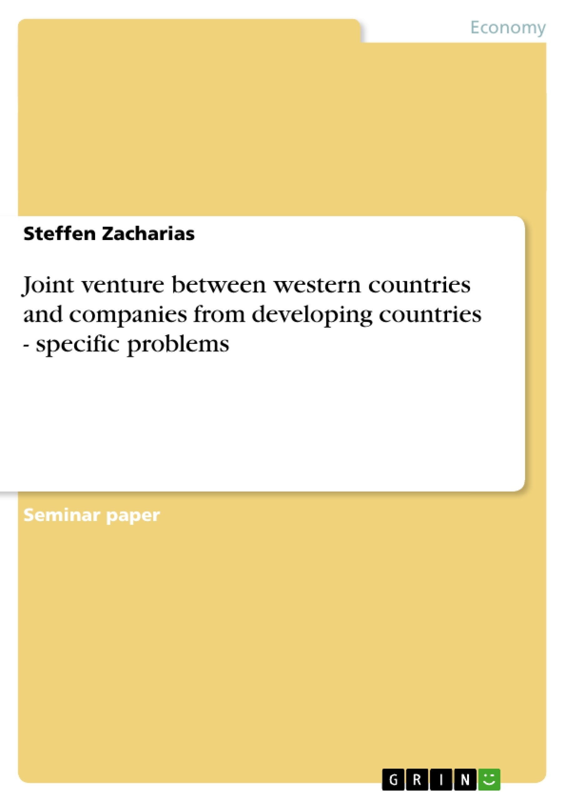 Joint Venture Between Western Countries And Companies From