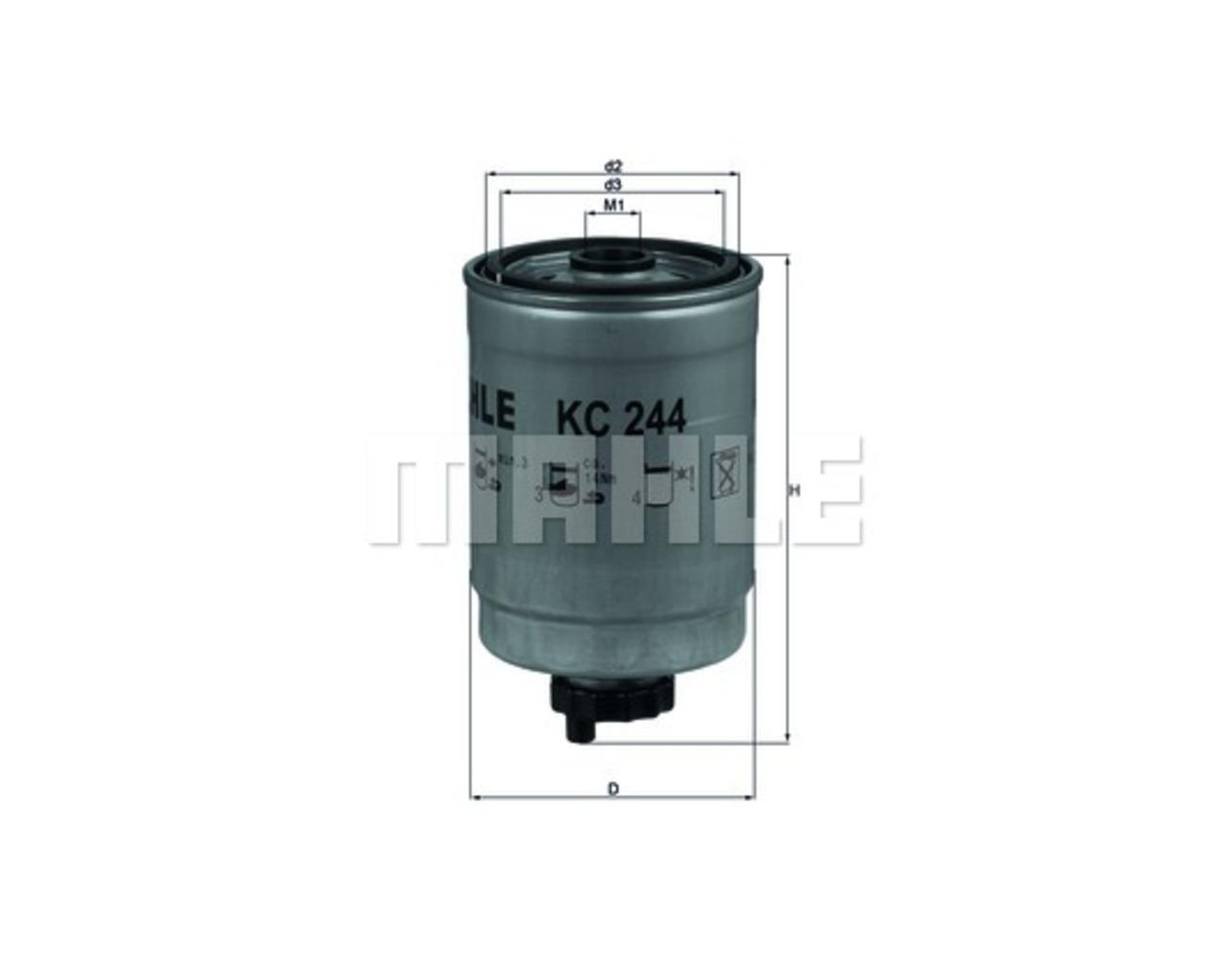 hight resolution of mahle fuel filter kc244 saab 9 3 single