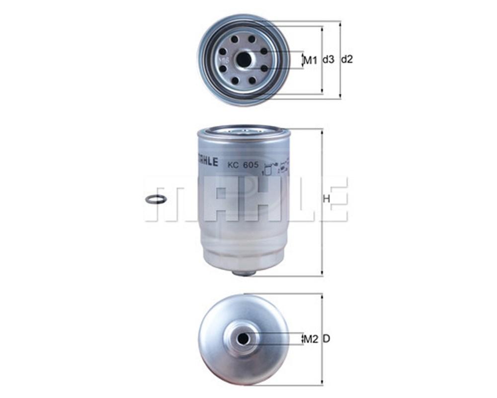 medium resolution of mahle fuel filter kc605d single