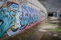 Graffiti Covered Tunnel In Irvine