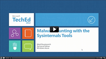Malware Hunting with the Sysinternals Tools
