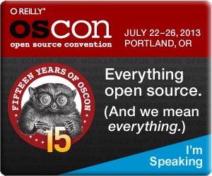 I'm Speaking at OSCON 2013 (size 300 X 250)