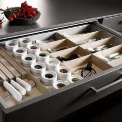 Kitchen Drawer Countertops Granite Mise En Place Tool Organizers The Organized Home A Tailormade Storage With Sections For Knives Flatware Spices And Other Tools From