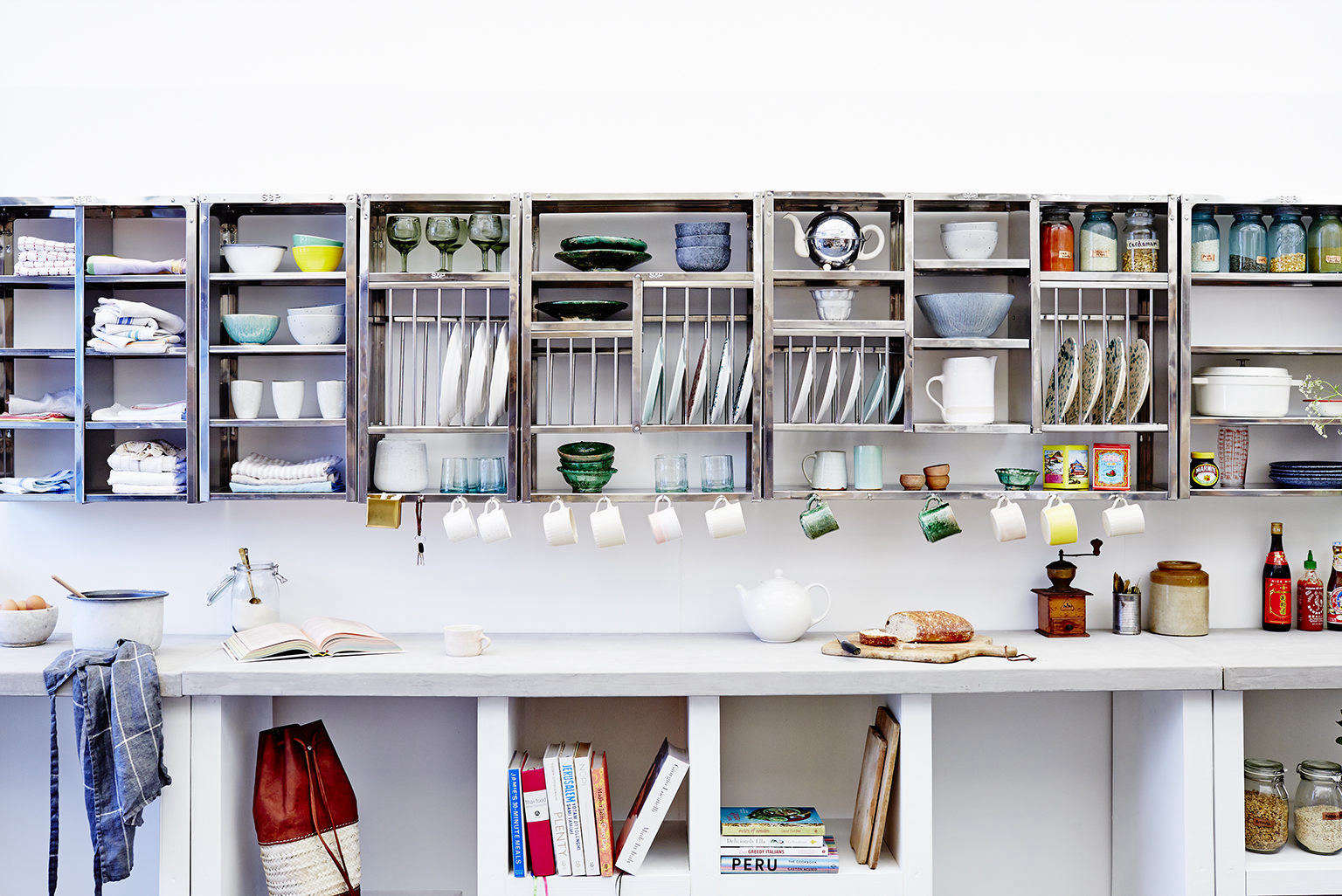 kitchen racks lowes cabinet handles indian stainless steel dish and shelves from stovold pogue rack shelf grouping